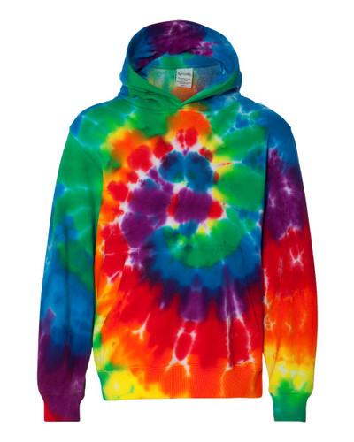 Dyenomite - Youth Multi-Color Swirl Hooded Sweatshirt