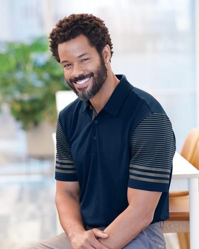 Adidas - Striped Sleeve Sport Shirt