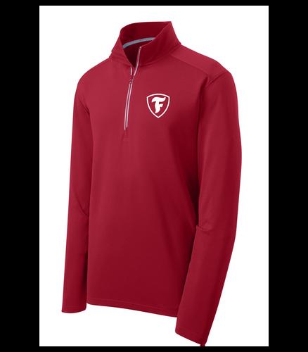 "Firestone Textured 1/4-Zip Pullover ""F"" Shield"