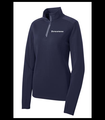 Firestone Ladies Textured 1/4-Zip Pullover
