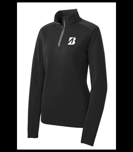 """Bridgestone Ladies Textured 1/4-Zip Pullover """"B"""""""