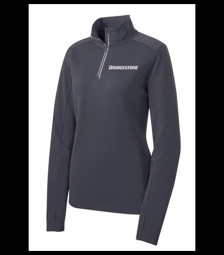 Bridgestone Ladies Textured 1/4-Zip Pullover