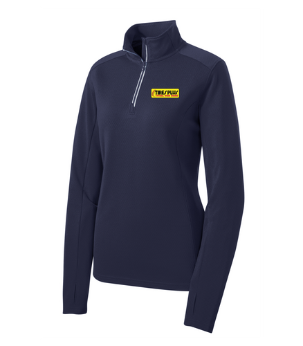 Tires Plus Ladies Textured 1/4-Zip Pullover