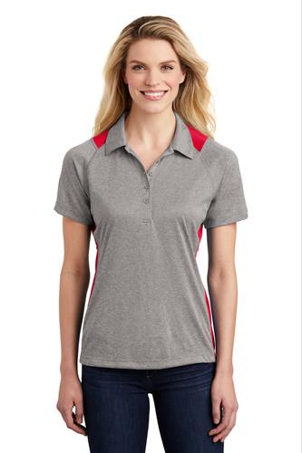 Sport-Tek® Ladies Heather Colorblock Contender™ Polo