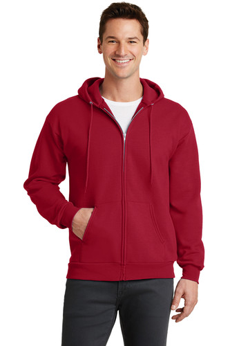 Port & Company® Core Fleece Full-Zip Hooded Sweatshirt