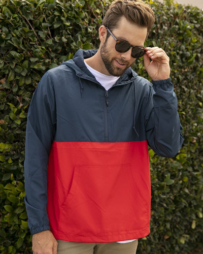 Independent Trading Co. - Unisex Lightweight Quarter-Zip Windbreaker Pullover Jacket