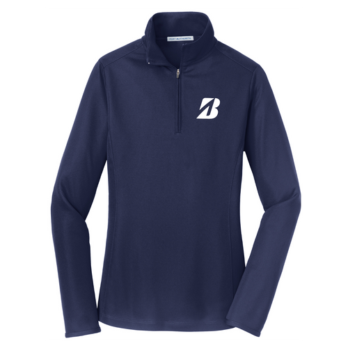 "Bridgestone ""B"" Ladies Pinpoint Mesh 1/2-Zip"