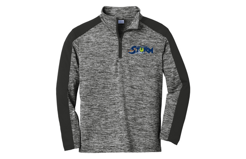 Carol Stream Storm Sport-Tek Youth PosiCharge Electric Heather Colorblock 1/4-Zip Pullover