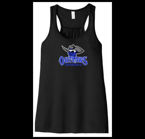 Outlaws (Logo) Baseball BELLA + CANVAS - Women's Flowy Racerback Tank