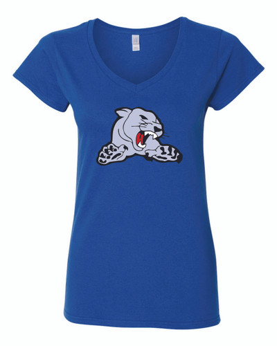 Carol Stream Cougars Gildan Women's V-Neck