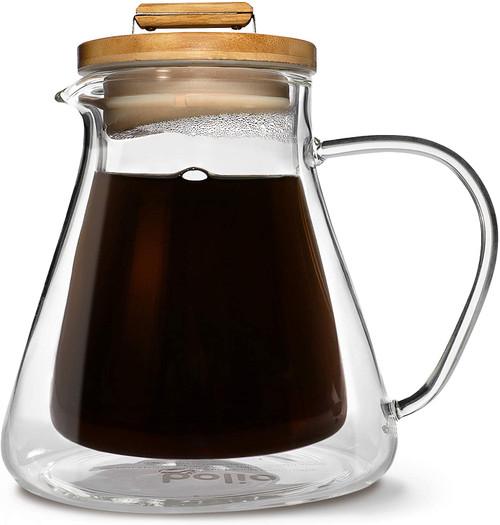 Bolio 500c - Insulated Glass Pour Over Coffee & Tea Server