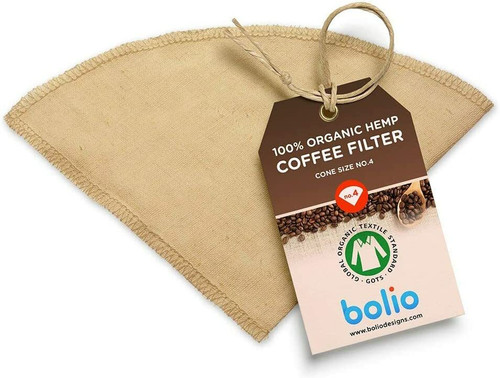 No. 4 Cone Hemp Reusable Coffee Filter