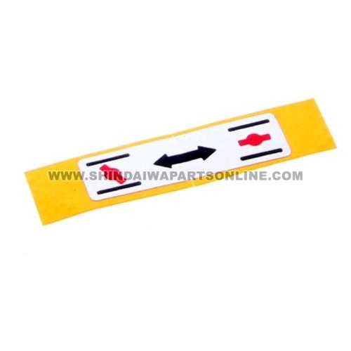 Shindaiwa X506000130 - Label Choke (Original OEM part) - ID-09770