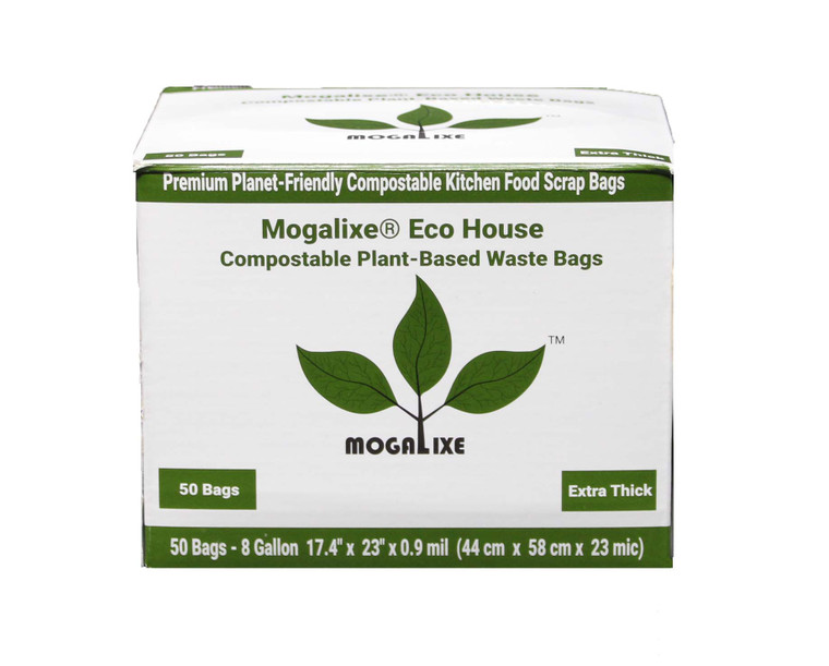 Mogalixe® 8 Gallon Plant-Based Biodegradable Compostable Waste 50 Bags