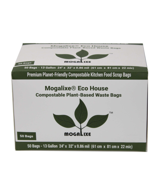 13 Gallon compostable biodegradable trash waste bag
