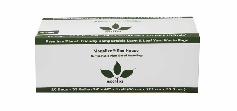 Mogalixe® 33 Gallon Plant-Based Biodegradable Compostable Lawn & Leaf Waste Bags