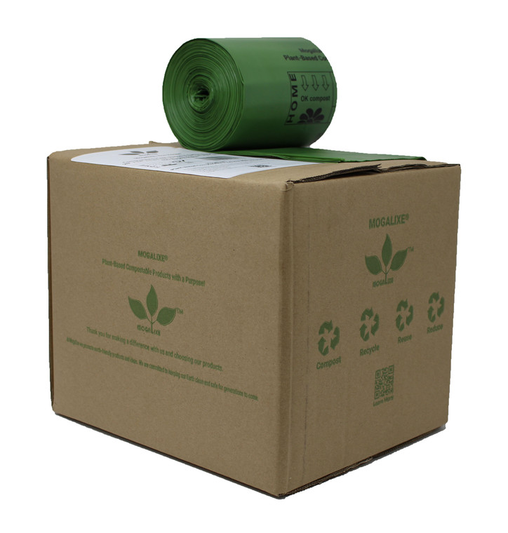 8 Gallon Biodegradable Compostable Waste Bags Case of 400 Bags