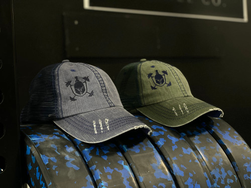 Distressed IP Signature Mesh Hat