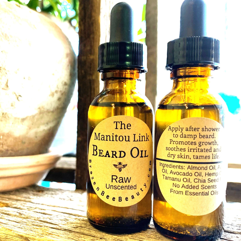 """The Manitou Link Beard Oil """"Raw"""" SCENT-FREE   BEARDS"""