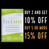 Tru Earth Eco-strips Laundry Detergent (Fragrance-free) - 32 Loads | ACCESSORY