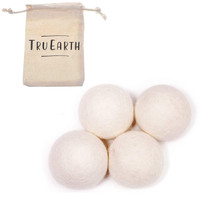 Wool Dryer Balls by Tru Earth 4-Pack, XL Premium Reusable Natural Fabric Softener