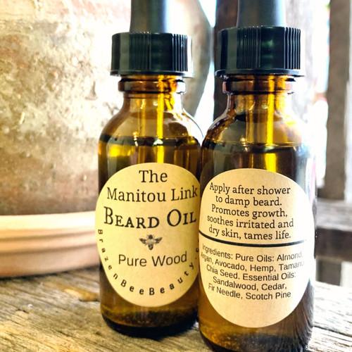 Pure Wood: The Manitou Link Beard Oil   BEARDS