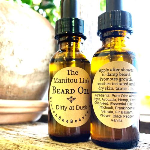 Dirty at Dusk: The Manitou Link Beard Oil   BEARDS