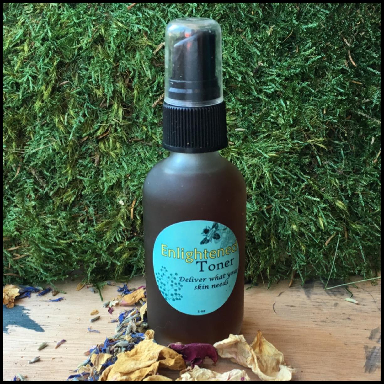 Enlighten Toner for skin hyperpigmentation with Burdock and Rosehips. Skin Lightening. Natural Toner with low-alcohol.
