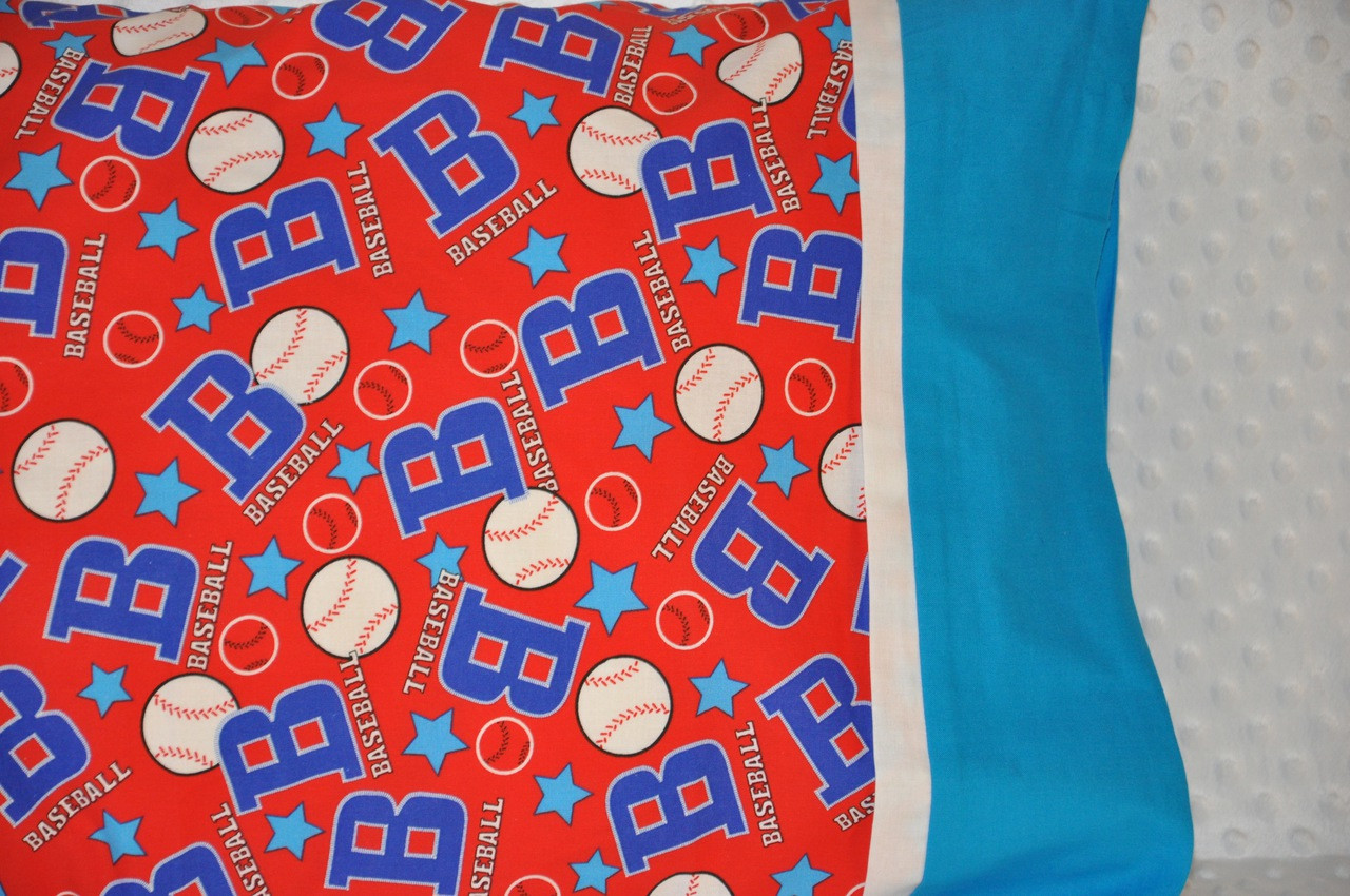 Personalized Pillowcase Pillow Case Monogrammed Baseball Free Shipping B R Embroidery Llc We Offer Custom Embroidery On Your Items