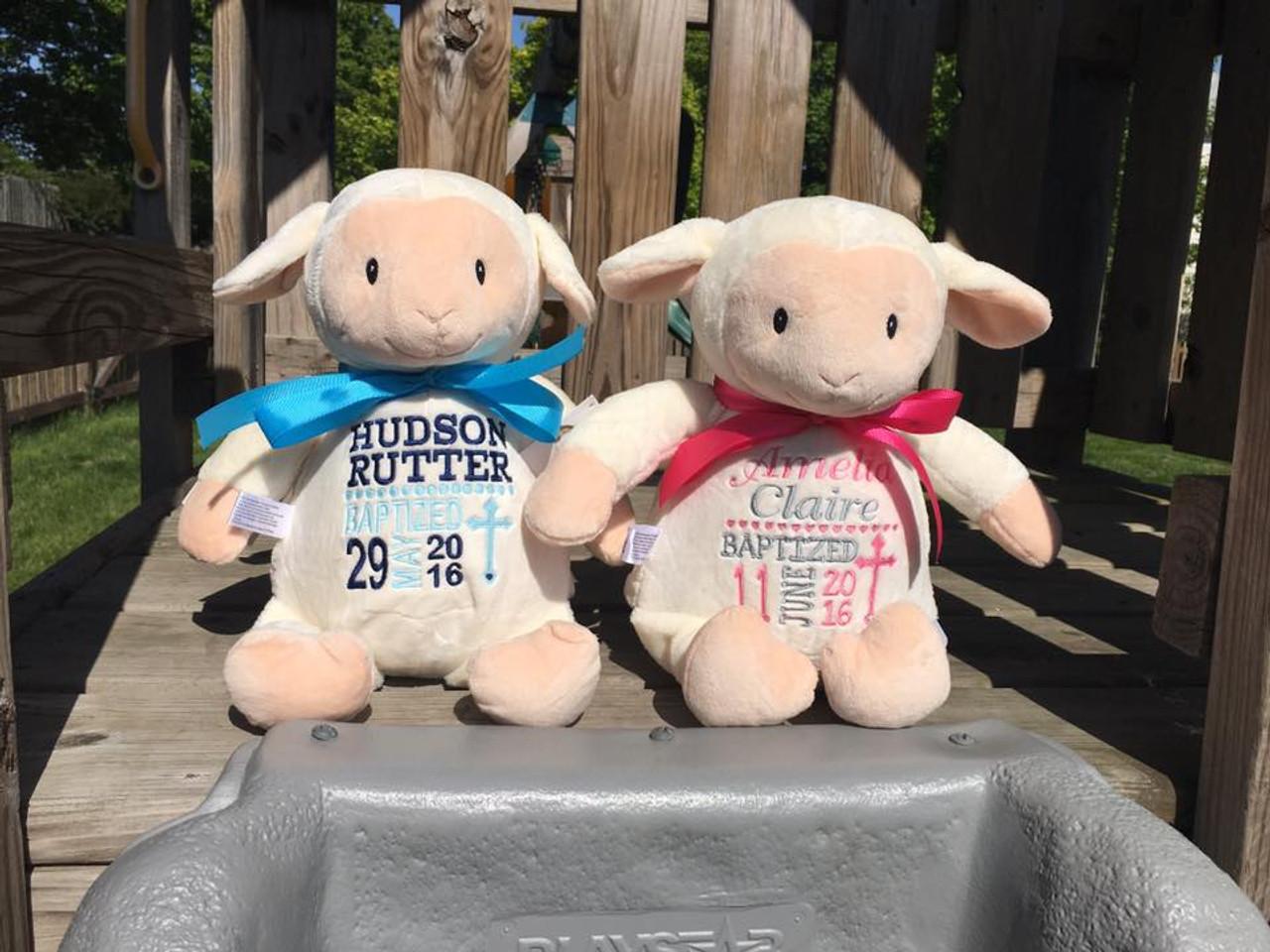 8576a85b8bd Personalized Stuffed Animal Cubbies - Lamb