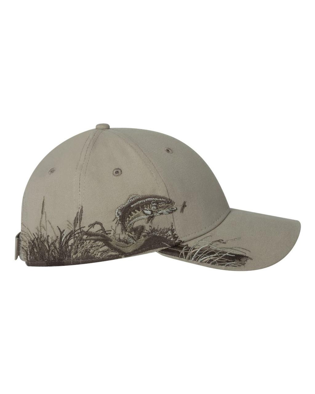 18425ff234 Dri Duck Trout Fishing Hunting Cap - B   R Embroidery