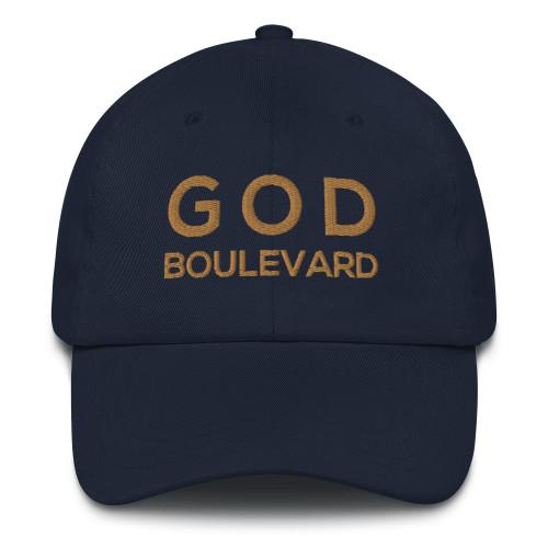 GOD Boulevard - Classic Strapback Dad Hat (Old Gold Design)