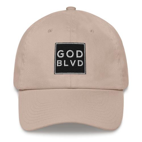 GOD BLVD - Strapback Dad Hat - Lighter Colors (Black Design)