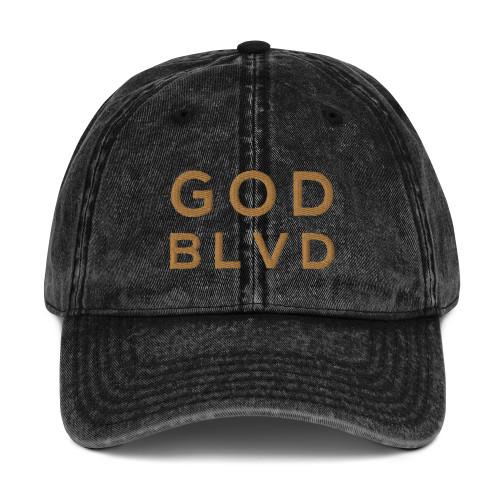 GOD BLVD - Vintage Cap (Old Gold)