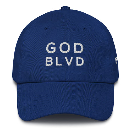 GOD BLVD - Royal Blue Baseball Cotton Cap ***CURRENTLY OUT OF STOCK***