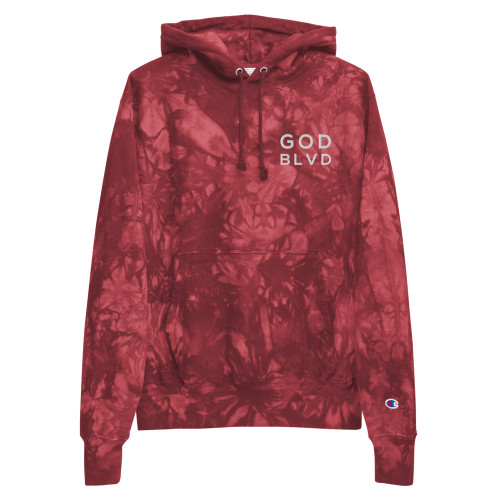 GOD BLVD Champion - Stitched - Tie-Dye Hoodie (Mulled Berry)