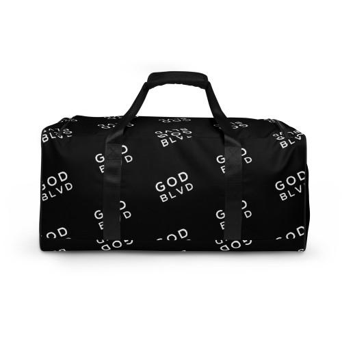 GOD BLVD - All Over Logo Black Duffle Bag