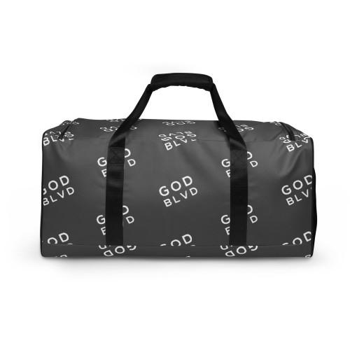 GOD BLVD - All Over Logo Grey Duffle Bag