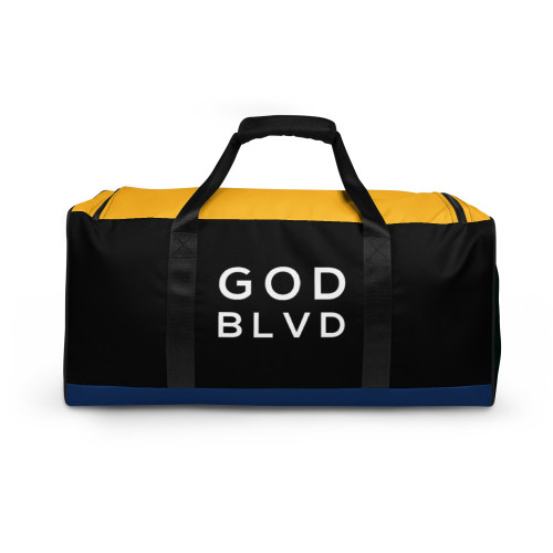 GOD BLVD - Logo Black/Blue/Yellow/Green Duffle Bag