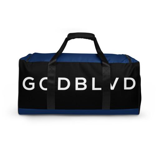 GOD BLVD - TO GOD BE THE GLORY - Black/Blue Duffle Bag