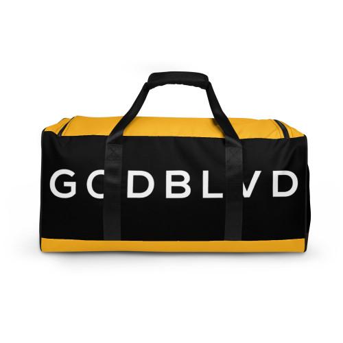 GOD BLVD - TO GOD BE THE GLORY - Black/Yellow Duffle Bag
