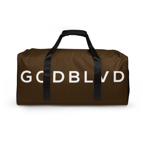 GOD BLVD - TO GOD BE THE GLORY - Brown Duffle Bag