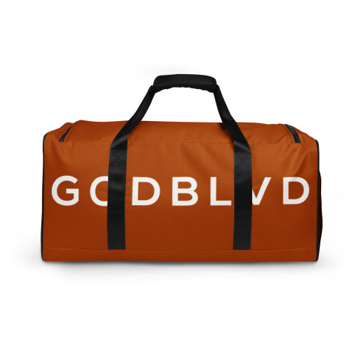 GOD BLVD - TO GOD BE THE GLORY - Golden Brown Duffle Bag