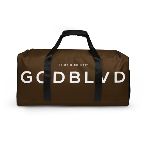 GOD BLVD - TO GOD BE THE GLORY 2 - Brown Duffle Bag