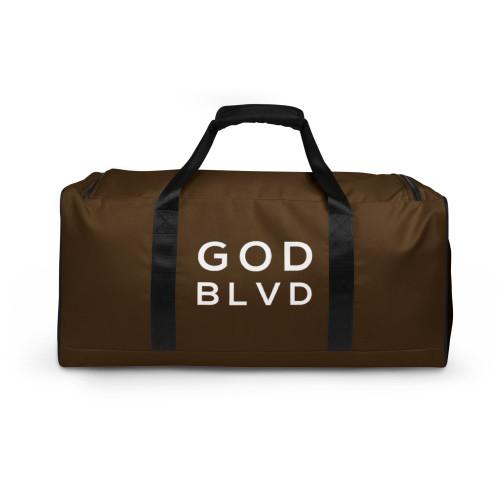 GOD BLVD - TO GOD BE THE GLORY - Logo Brown Duffle Bag