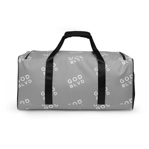 GOD BLVD - All Over Logo Light Grey Duffle Bag