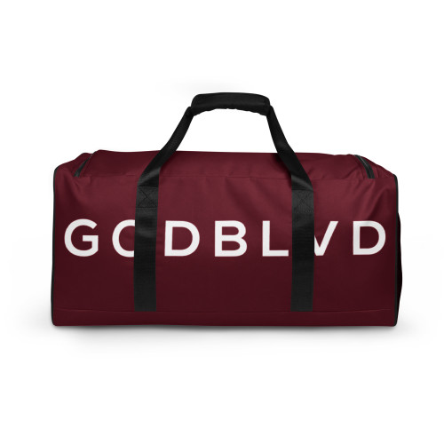 GOD BLVD - Maroon Red Duffle Bag