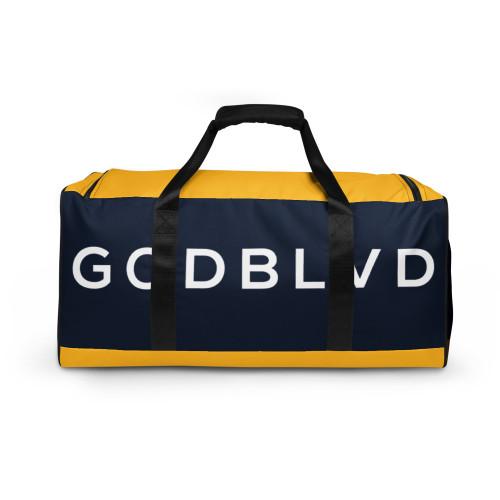 GOD BLVD - Navy Blue / Yellow Duffle Bag