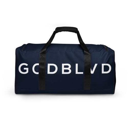 GOD BLVD - Navy Blue Duffle Bag