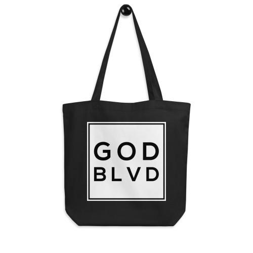 GOD BLVD - Big Logo Black Eco Tote Bag